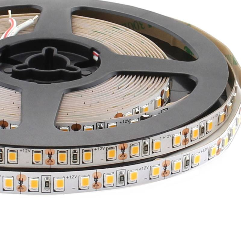 Tira LED Monocolor SMD2835, ChipLed Samsung, DC24V, 5m (120Led/m) - IP20, Verde